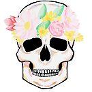 Snapchattin' Skull - Flower Filter by sammyjodesigns