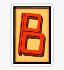The Alphabet  The letter B Sticker