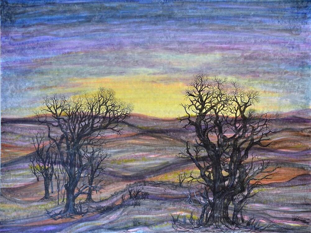 Somber Landscape by Regina Valluzzi