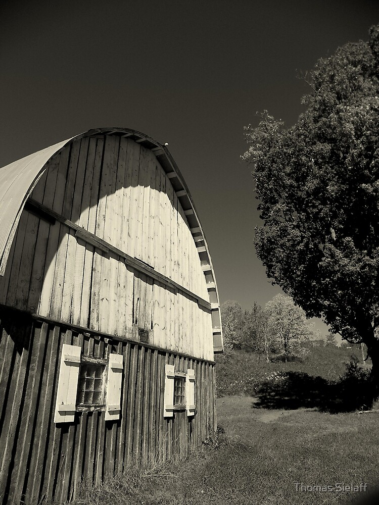 Barn B&W by Thomas Sielaff