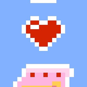 I <3 / Heart Cake Pixels by RoneOmbre