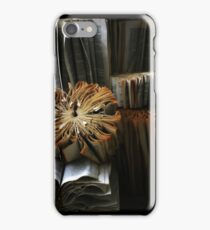 Ancient Library #1 Book Flowers iPhone Case/Skin