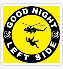 Good Night Left Side - Helicopter Sticker