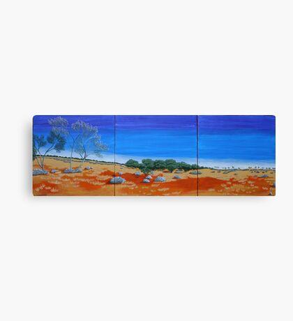 OUTBACK VISTA TRIPTYCH (AUSTRALIA) Canvas Print