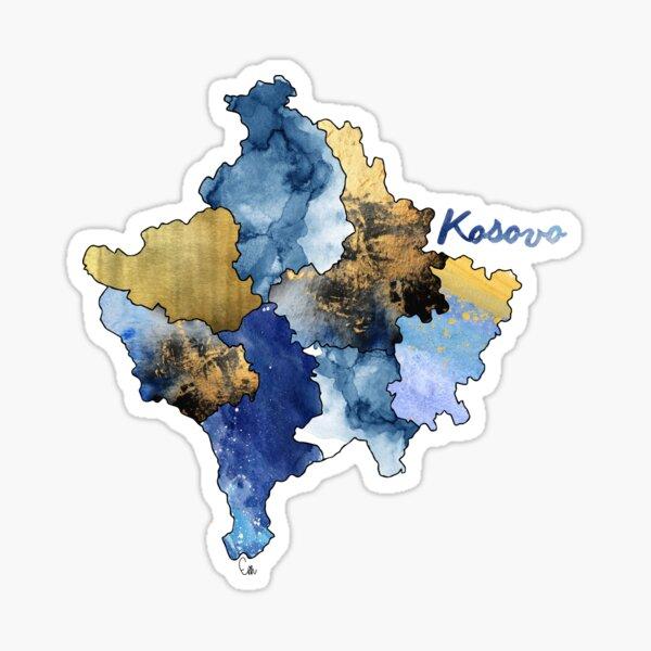 Aquarellländer - Kosovo Sticker