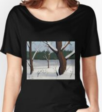 A Winter Scene Women's Relaxed Fit T-Shirt