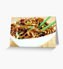 Stir Fried Udon Noodles Greeting Card