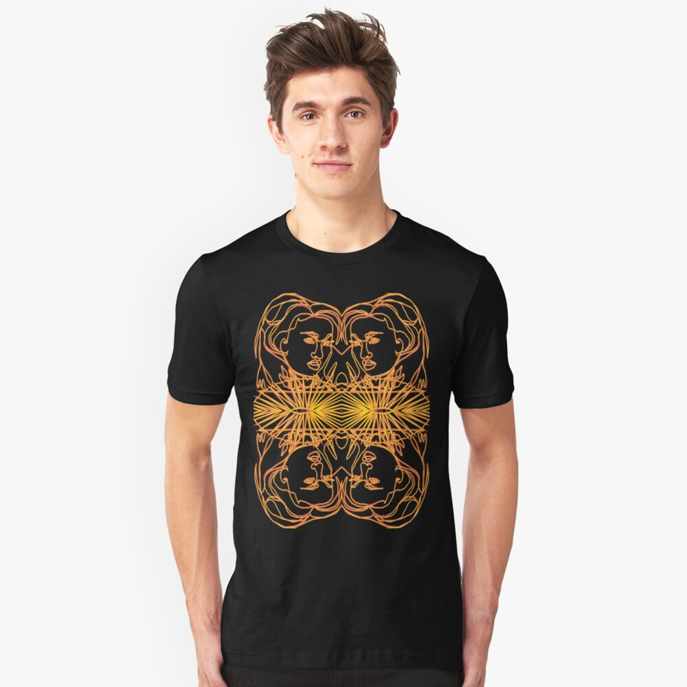 TSHIRT Oriental Girl with fan mirrored Unisex T-Shirt Front