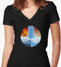 Avatar Four Elements Women's Fitted V-Neck T-Shirt