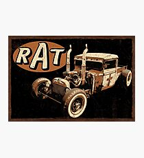 Rat Rod - Pipes Photographic Print