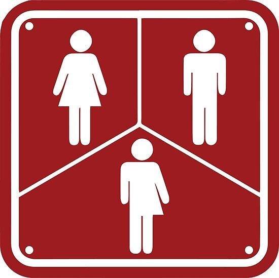 transgender bathroom sign trans symbol by almosthillwood - Transgender Bathroom Sign