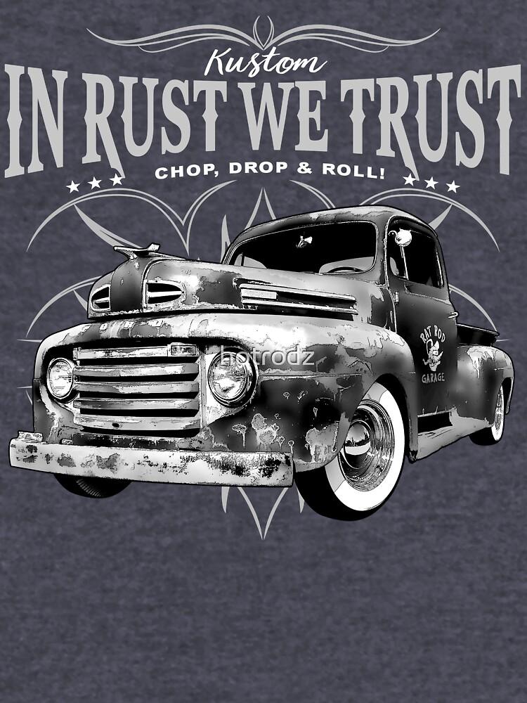 Hot Rod In Rust We Trust Hoodie Route 66 Vintage Retro Garage Sweatshirt