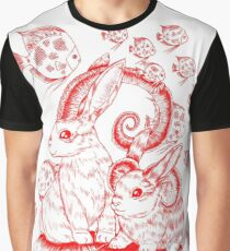 Red Bunnylopes Graphic T-Shirt