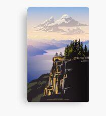 Lienzo Cartel de viaje retro hermosa Columbia Británica