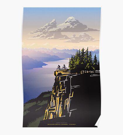 Beautiful British Columbia retro travel poster Poster