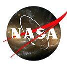 Nasa Logo Hubble Nebula by MarcoD