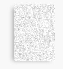 Bloomin' Empire - Black & White Canvas Print