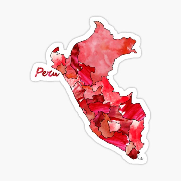 Watercolor Countries - Peru Sticker