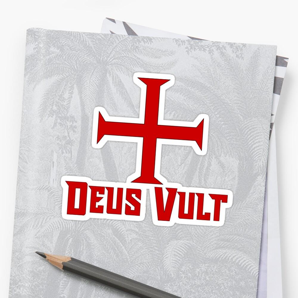 Deus Vult, Templar Cross Red by 411drpkv4c