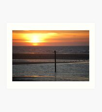 Sunset over Colwyn Bay Art Print