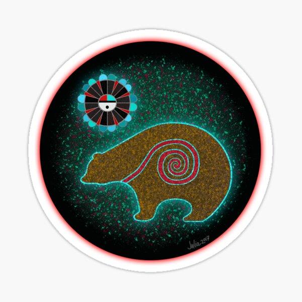 Zuni Life Force Bear  Sticker