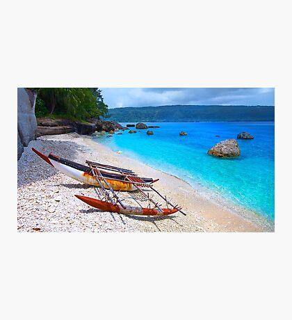 Vanuatu Traditional Boat Photographic Print