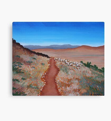 ROAD TO NOWHERE (AUSTRALIAN OUTBACK) Canvas Print