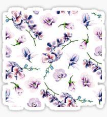 Floral Flowers Purple Green Florals Flower Rose Blossom Garden Pattern Sticker