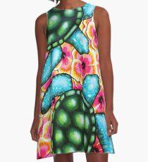 Hibiscus Sea A-Line Dress