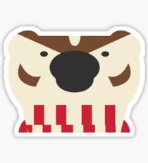Retro Bucky Badger, Tight Cut Sticker