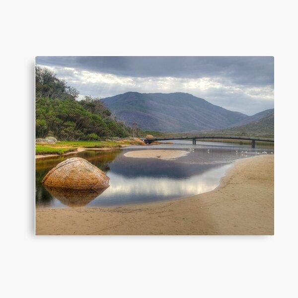 HDR image of Tidal River, Wilsons Promontory, Victoria. Metal Print