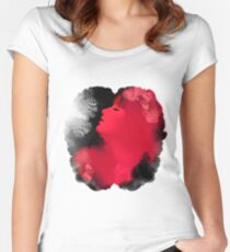 Psychedelic Ink Red Girl Women's Fitted Scoop T-Shirt