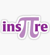 Math Inspire Pi 3.14 shirt Sticker