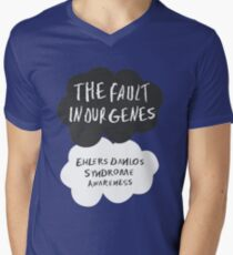 The Fault In Our Genes, Ehlers Danlos Syndrome Awareness Mens V-Neck T-Shirt