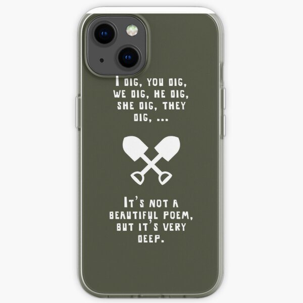 Digging for a poem iPhone Soft Case