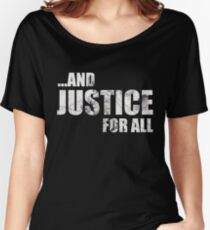 Justice Light Text Women's Relaxed Fit T-Shirt