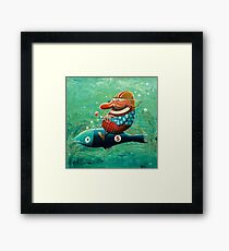 Ride the wild fish Framed Print