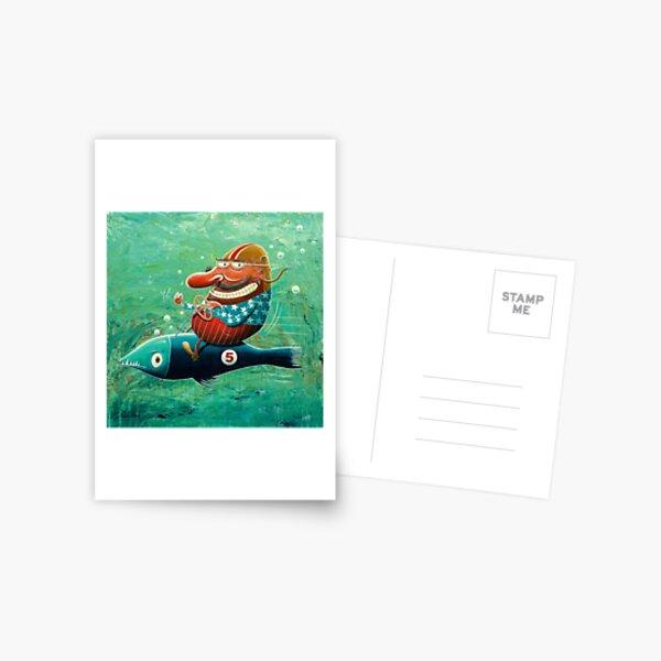 Ride the wild fish Postcard