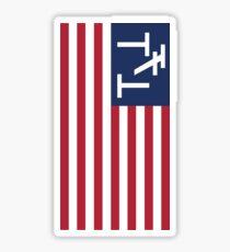 triple t flag Sticker