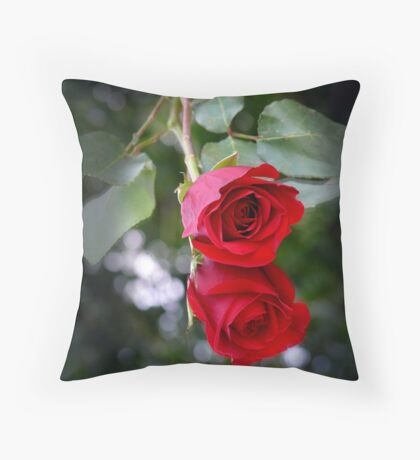 Rose Reflected Throw Pillow