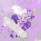 Skate Girl Purple Fly by Pepe Psyche