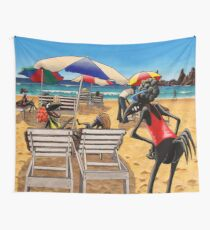 Birds on the Beach Wall Tapestry