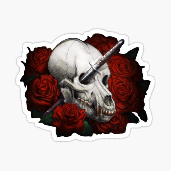 Silver & Bone (no text) Sticker