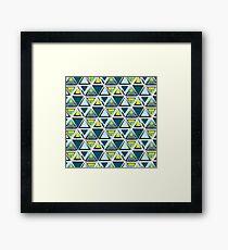 Triangle tribal pattern Framed Print