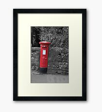 Post box in wall darley dale peak district Framed Print