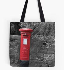 Post box in wall darley dale peak district Tote Bag