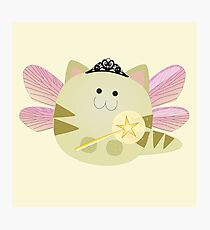 Cute Fairy Kitten Photographic Print