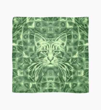 Cat in green #Art Scarf