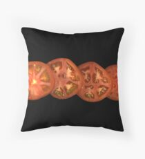 Whole sliced tomato Throw Pillow