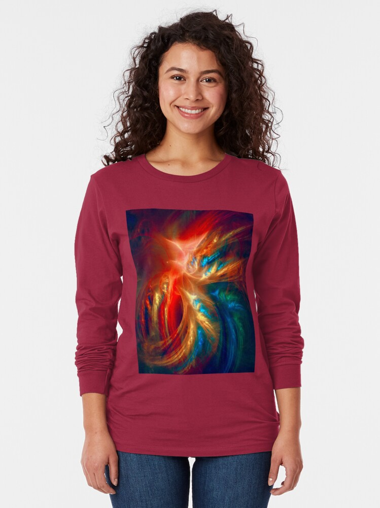 Alternate view of Colorful Wings Long Sleeve T-Shirt